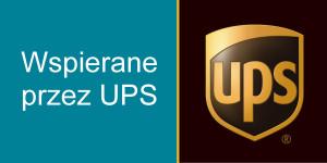 napis wspierane przez UPS oraz logo ups