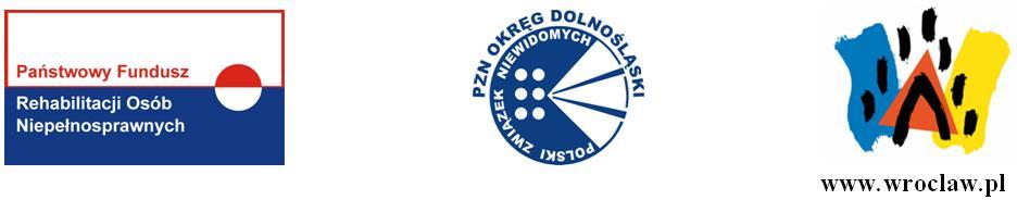 Logo PFRON PZNOD Miasto Wrocław
