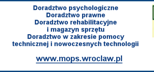 loga PFRON, PZN OD, MOPsu, Wrocławia