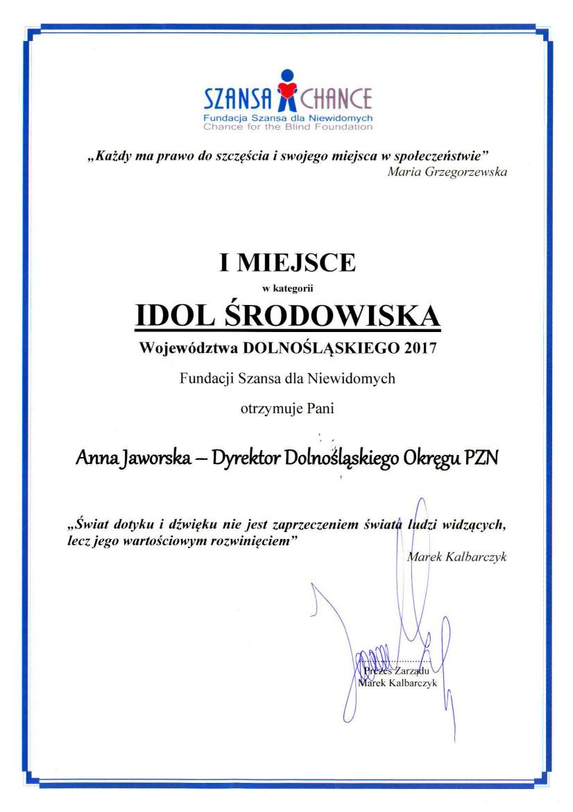 dyplom_jaworska_idol2017
