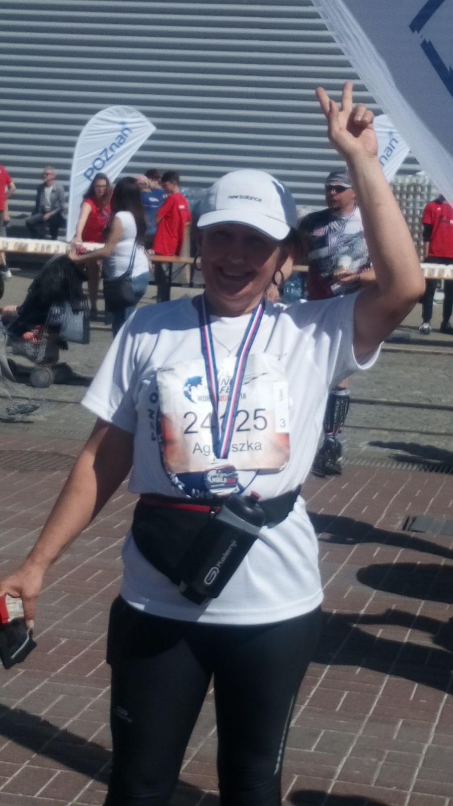 Agnieszka Degler-Błażewicz na biegu Wings for live w Poznaniu