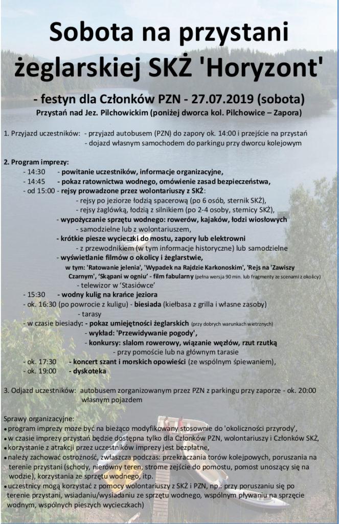 Plakat - festyna dla Członków PZN