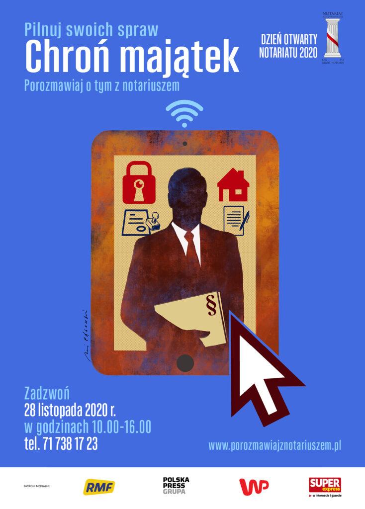Plakat Dzień otwarty Notariatu 2020