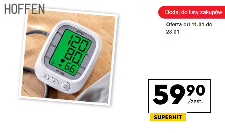 ciśnieniomierz w sklepach sieci biedronka w cenie 59,90 zł