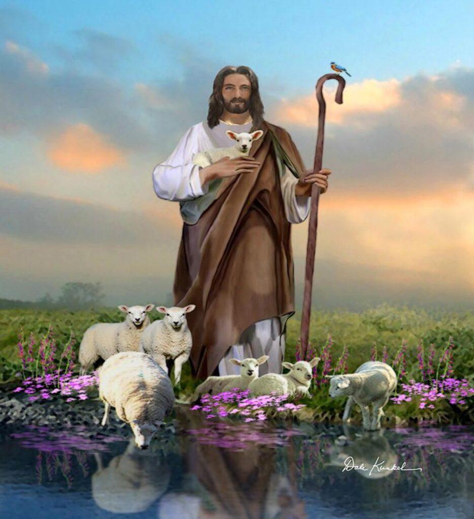 Jezus z owieczkami